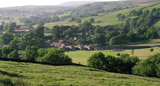 Burnsall Village is located in Wharfedale in the Yorkshire Dales National Park